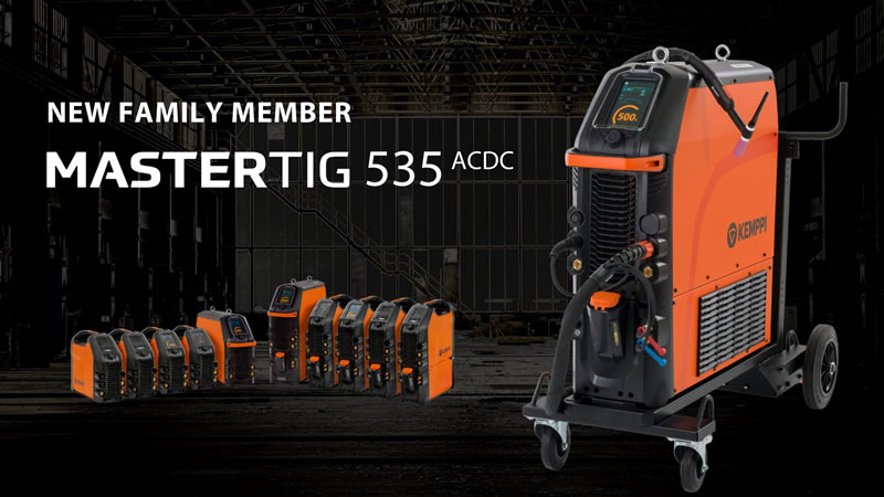 Компания Kemppi презентовала сварочному миру новый, сверхмощный аппарат семейства TIG – MasterTig 535 ACDC
